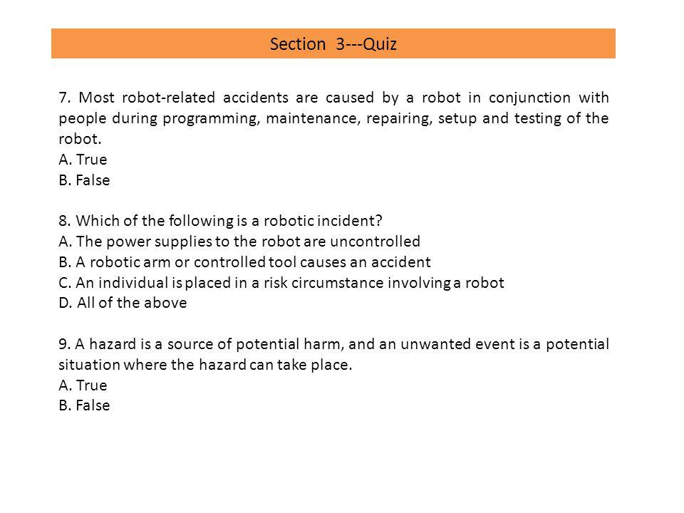 Section 3---Quiz