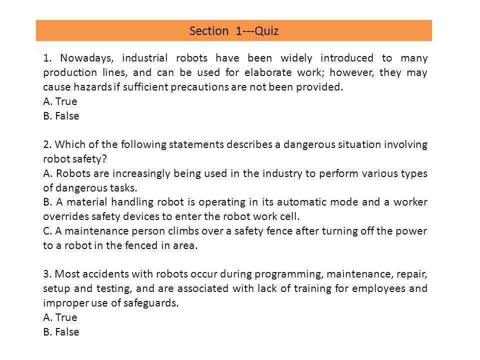 Section 1---Quiz