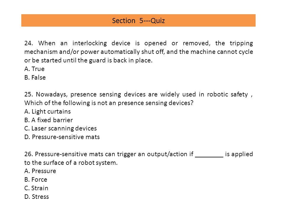 Section 5---Quiz