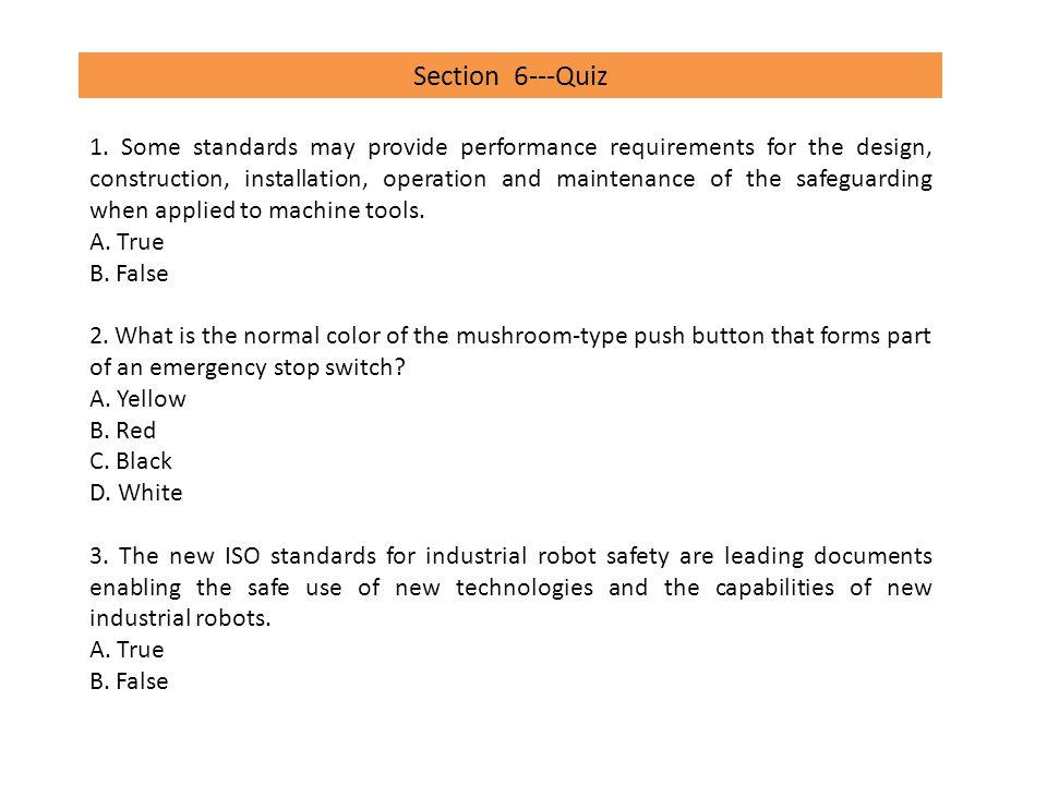 Section 6---Quiz