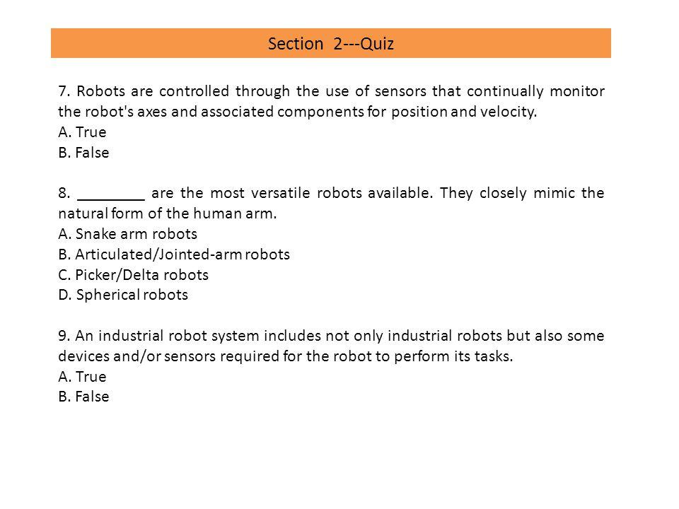 Section 2---Quiz