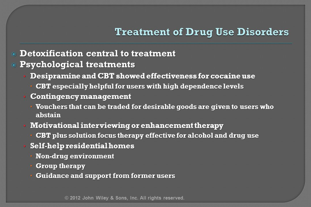 Treatment of Drug Use Disorders
