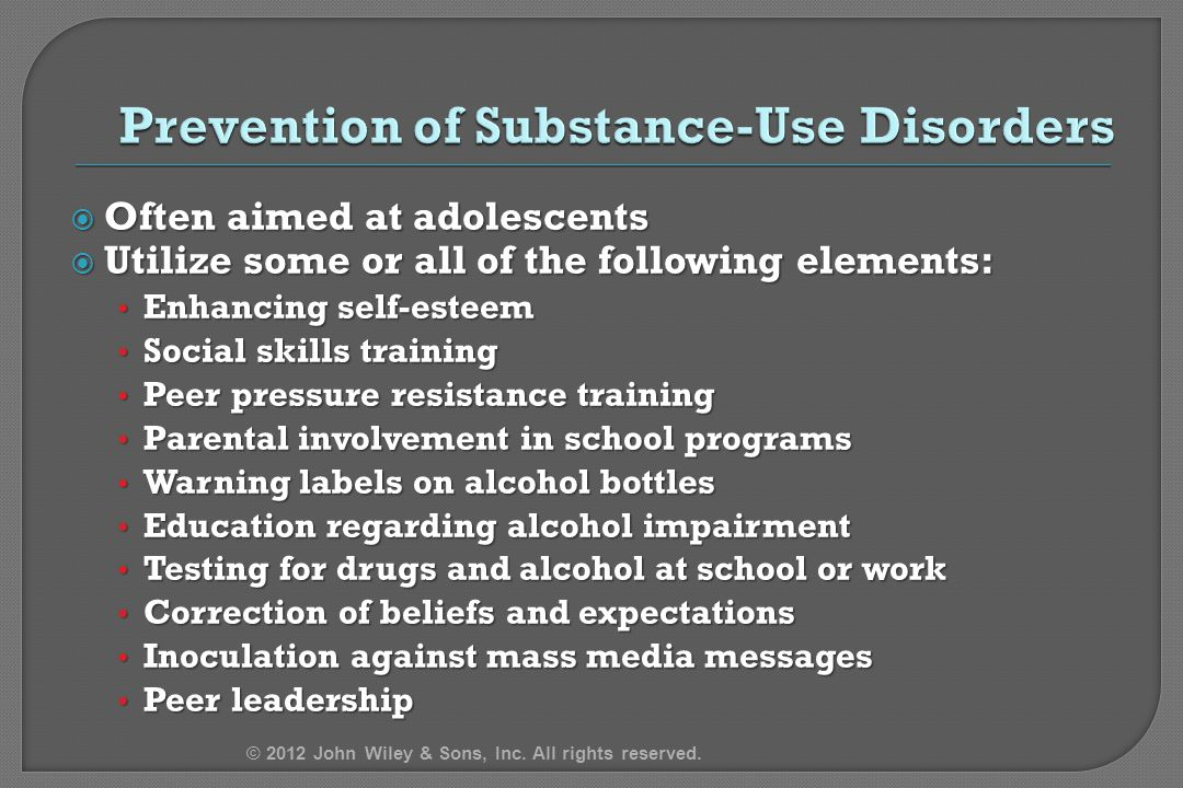 Prevention of Substance-Use Disorders