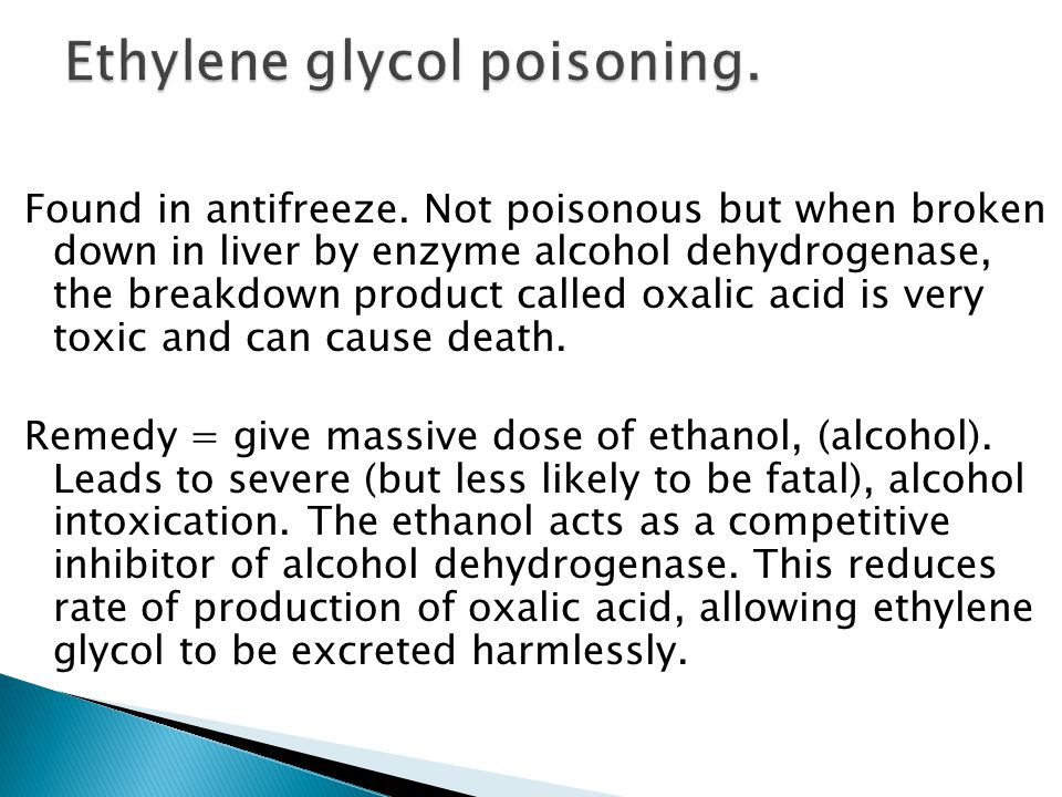Ethylene glycol poisoning.