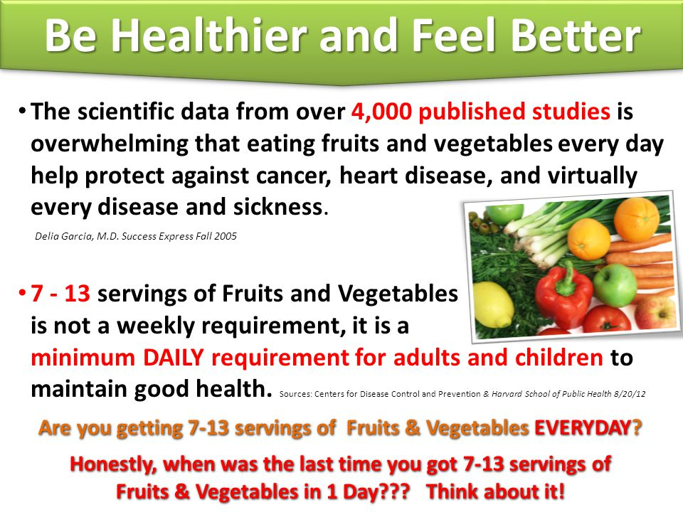 Be Healthier and Feel Better