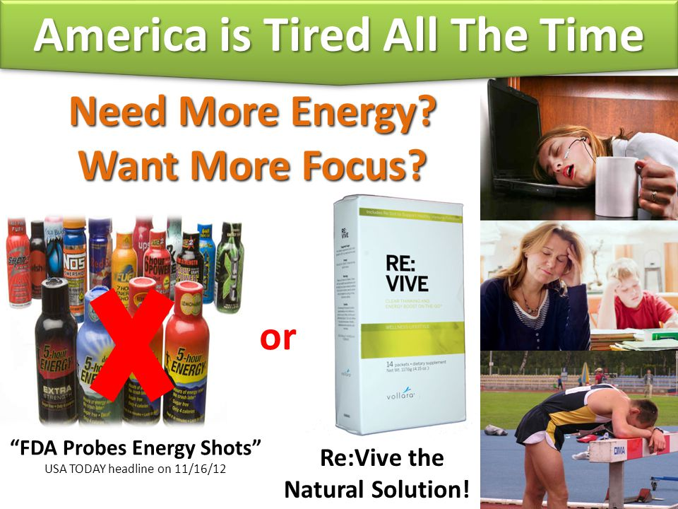 America is Tired All The Time FDA Probes Energy Shots