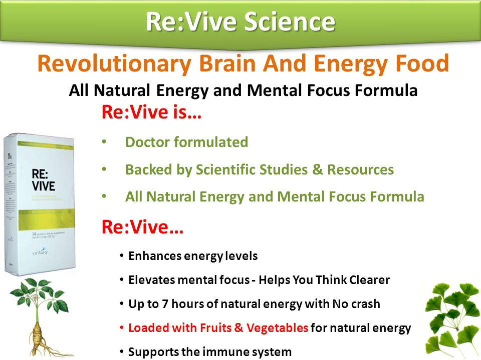 Re:Vive Science Revolutionary Brain And Energy Food Re:Vive is…