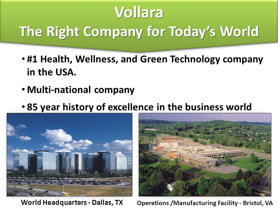 Vollara The Right Company for Today's World