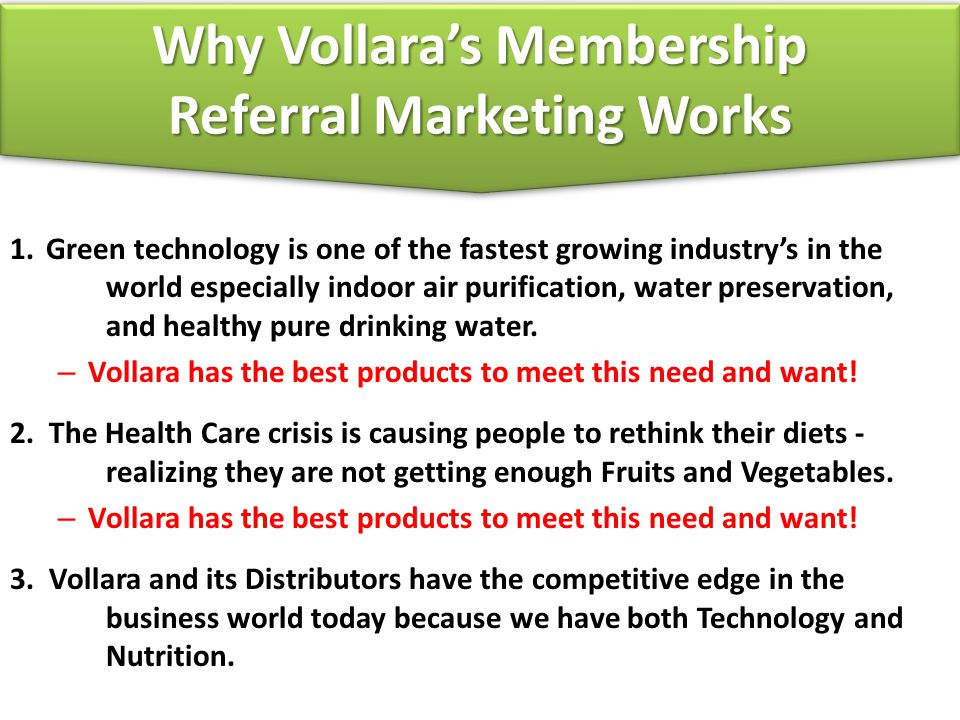 Why Vollara's Membership Referral Marketing Works
