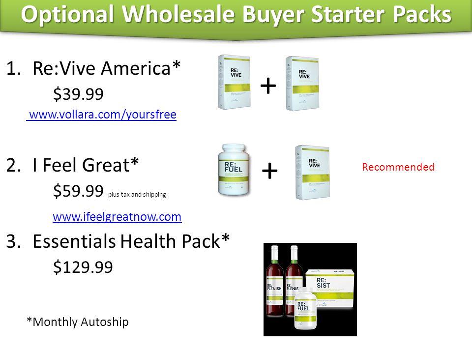 Optional Wholesale Buyer Starter Packs
