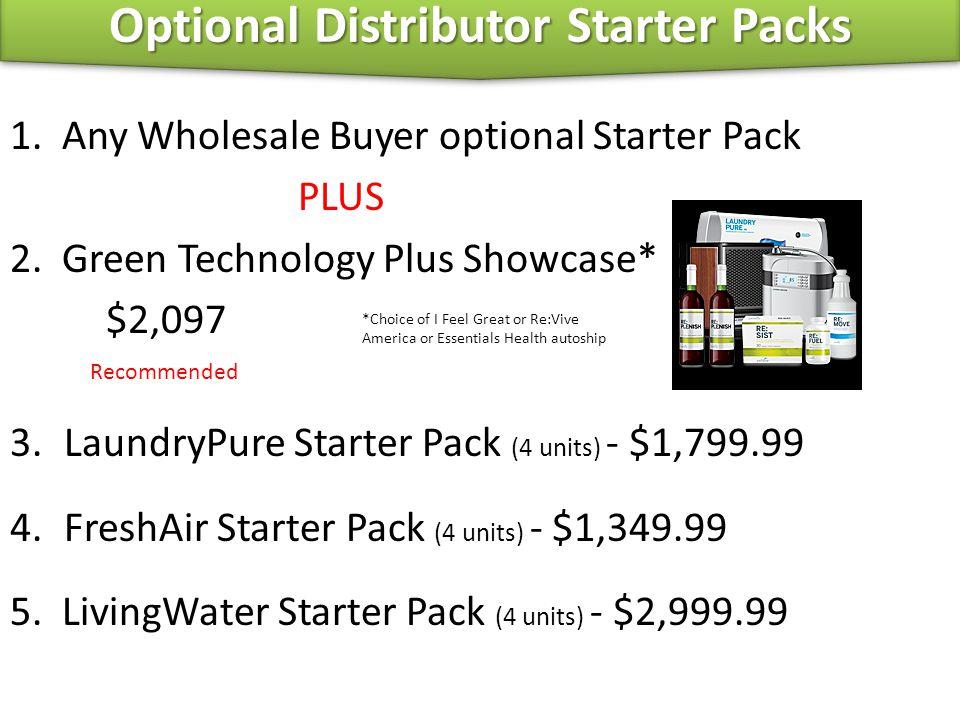 Optional Distributor Starter Packs