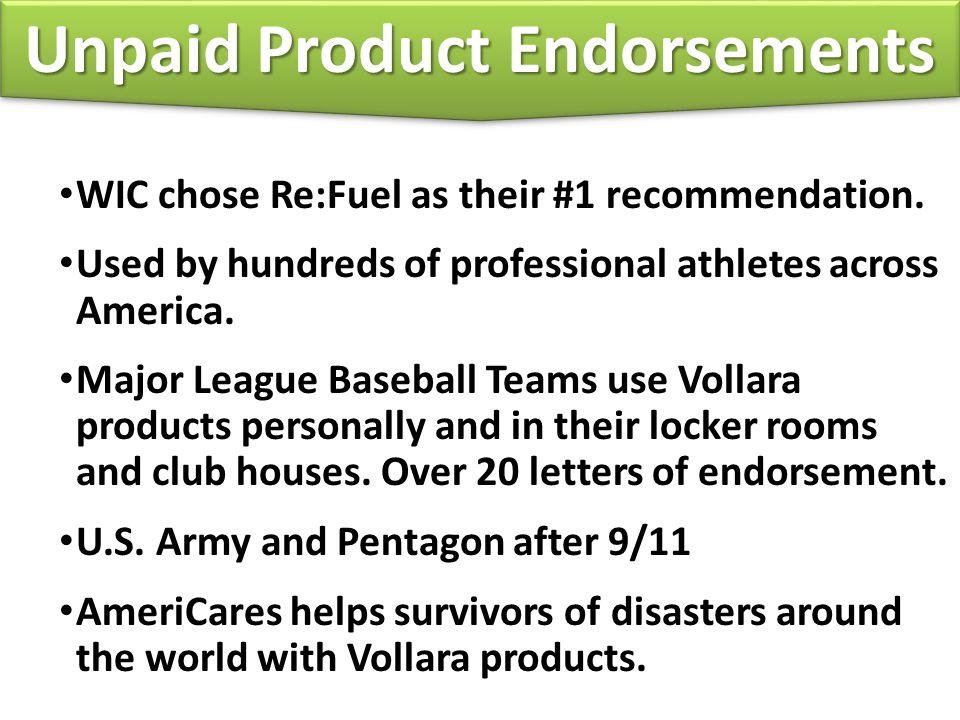 Unpaid Product Endorsements