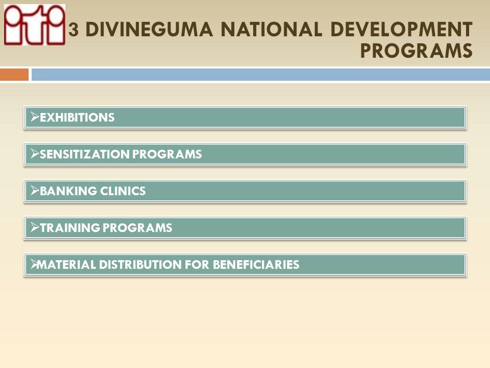 3 DIVINEGUMA NATIONAL DEVELOPMENT PROGRAMS