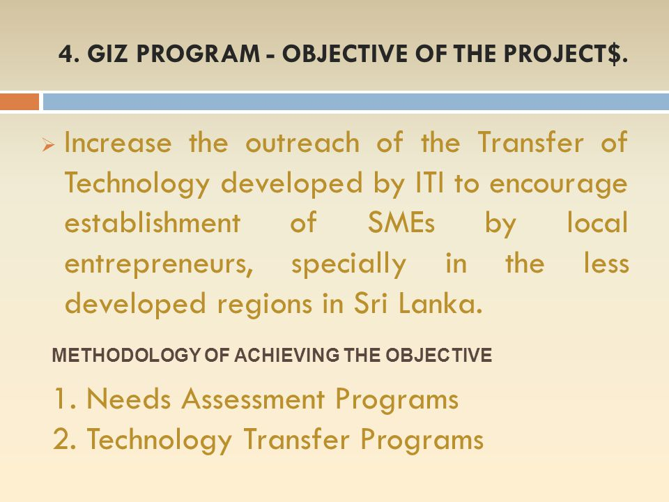 4. GIZ PROGRAM - OBJECTIVE OF THE PROJECT$.