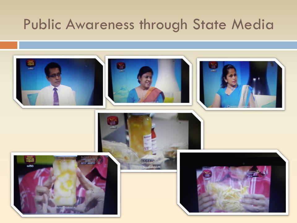 Public Awareness through State Media