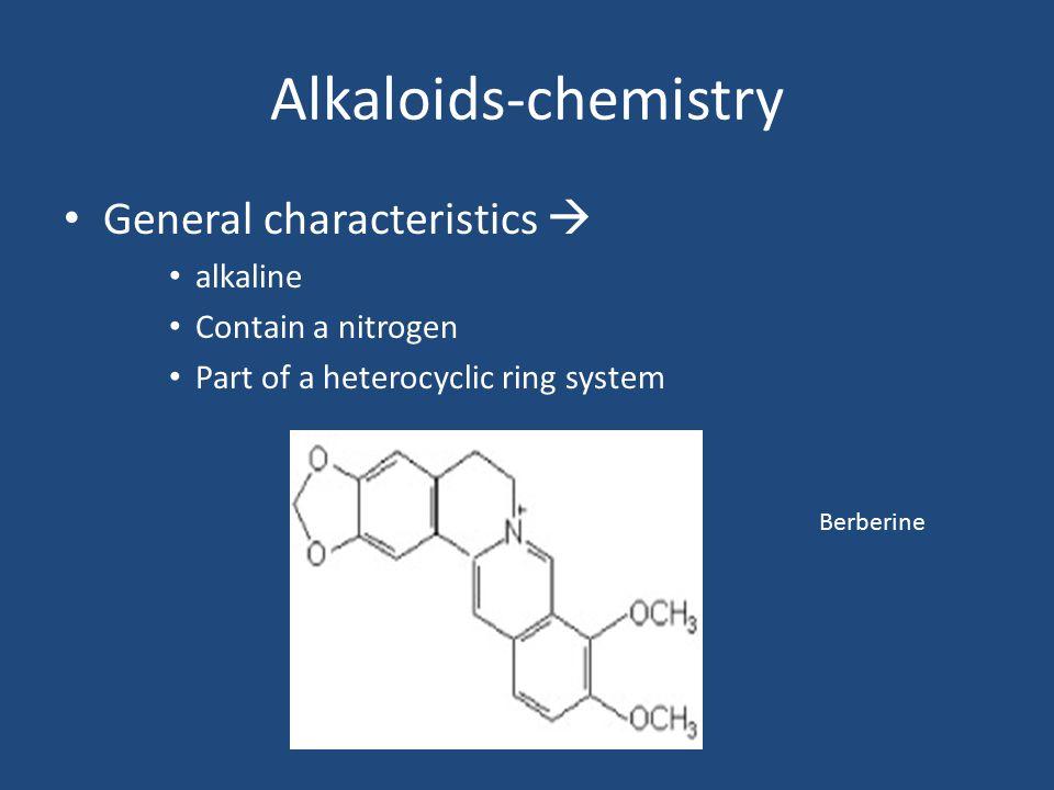 Alkaloids-chemistry General characteristics  alkaline