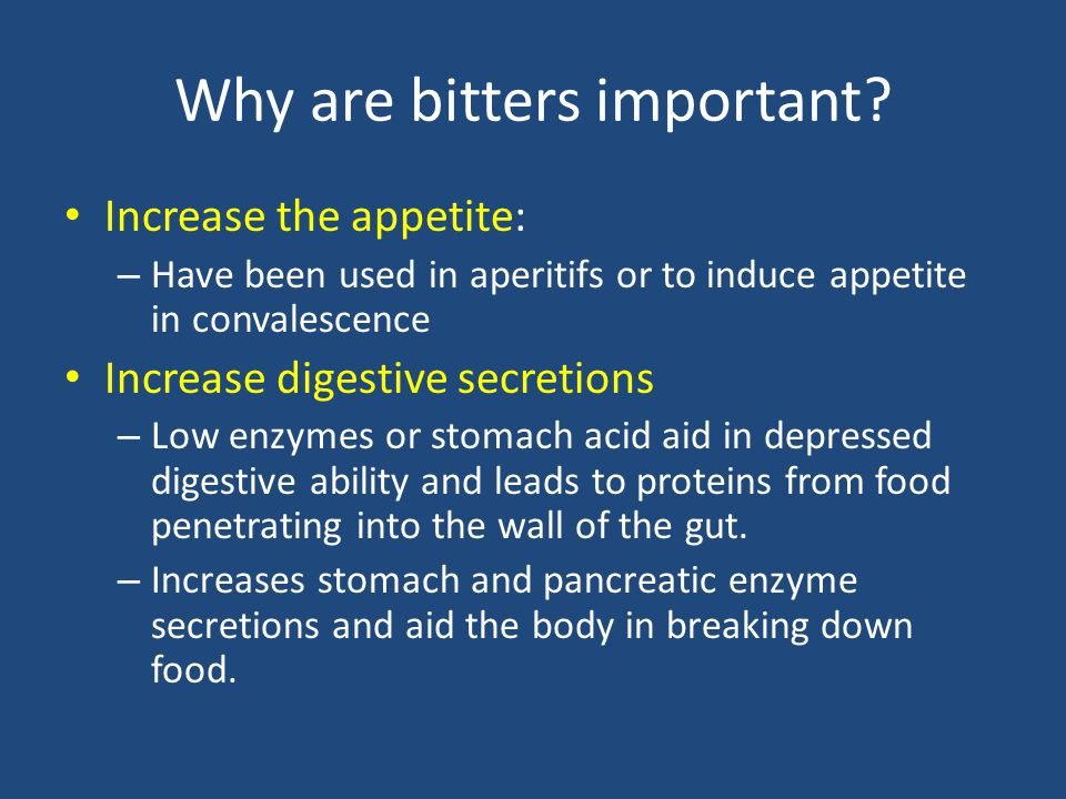 Why are bitters important