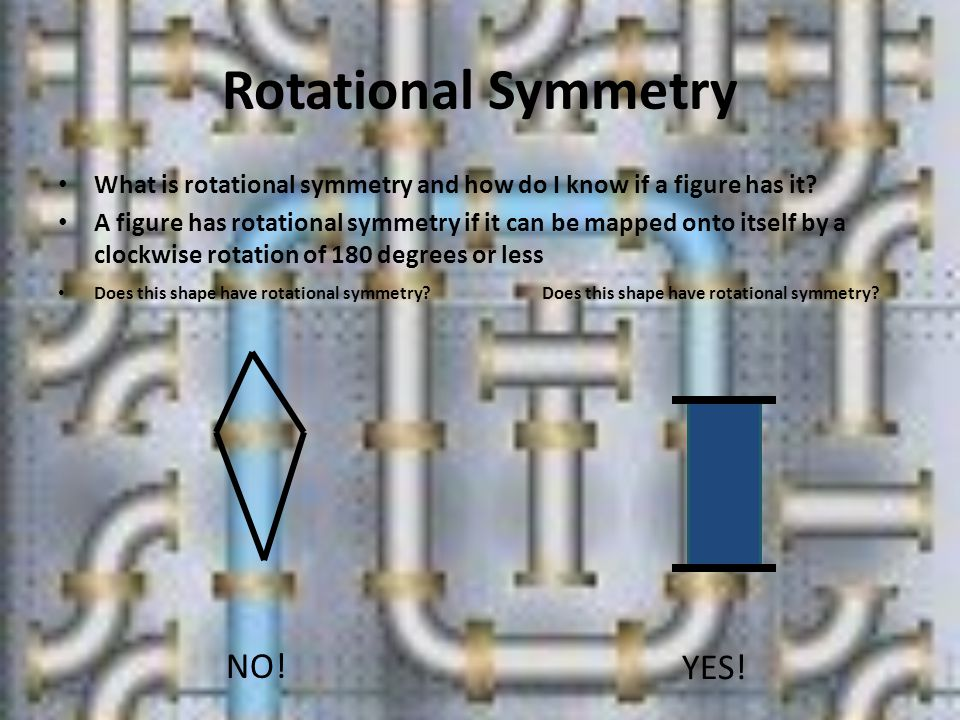 Rotational Symmetry NO! YES!
