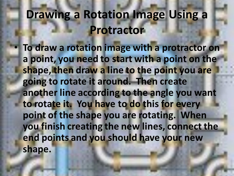 Drawing a Rotation Image Using a Protractor
