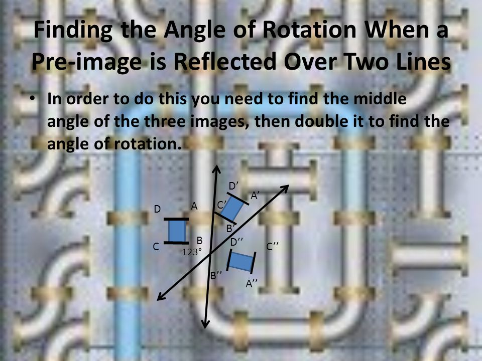 Finding the Angle of Rotation When a Pre-image is Reflected Over Two Lines