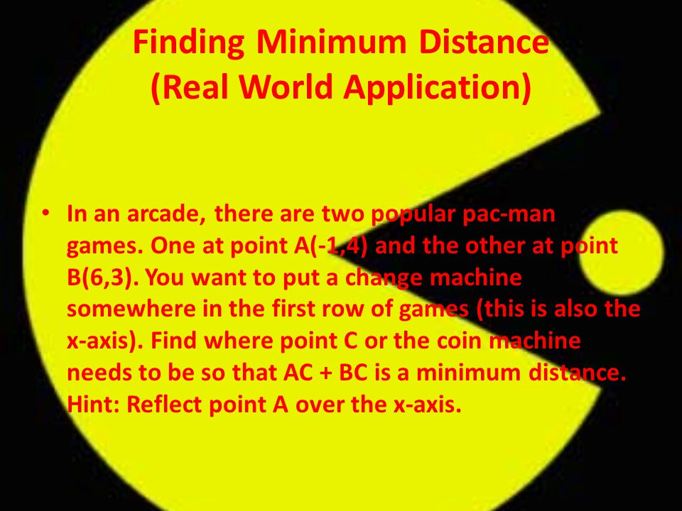 Finding Minimum Distance (Real World Application)