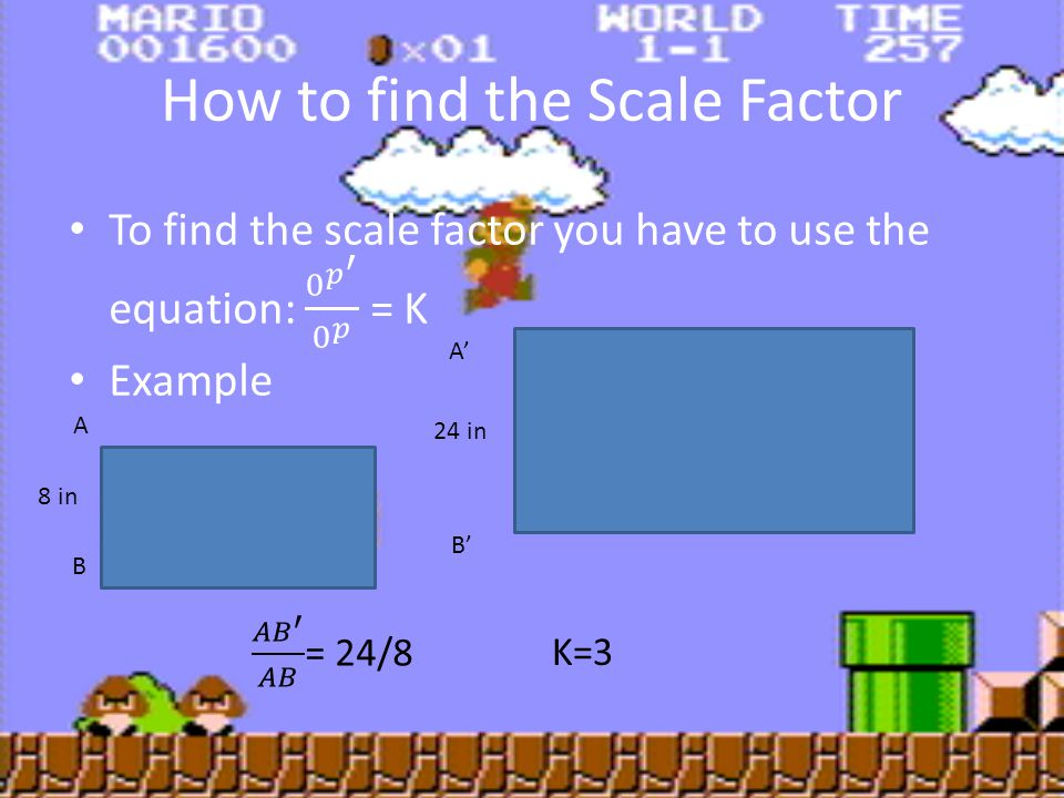 How to find the Scale Factor