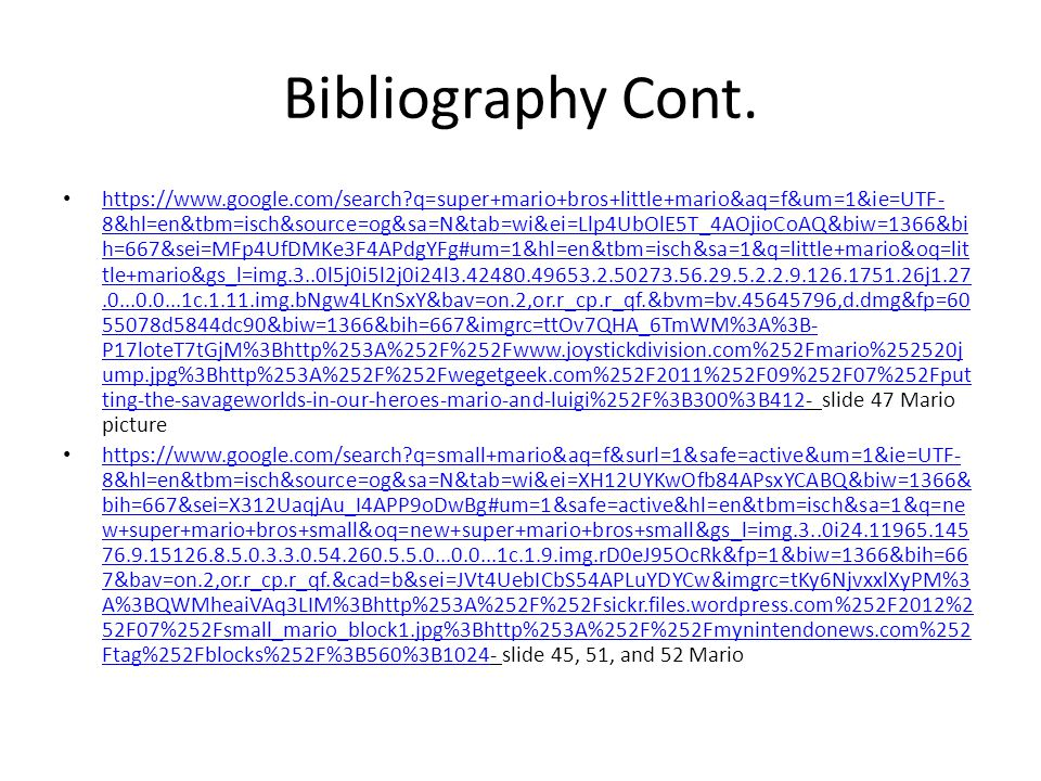 Bibliography Cont.