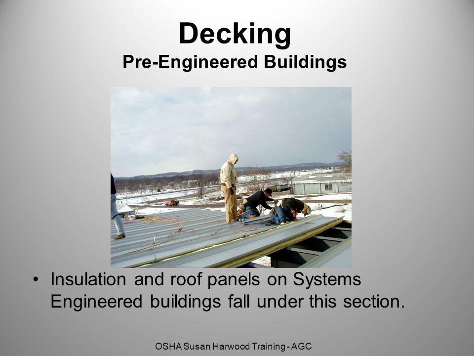 Decking Pre-Engineered Buildings