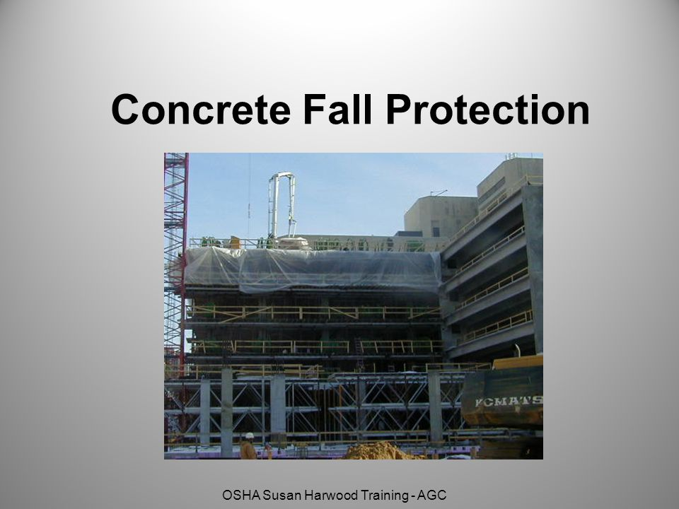 Concrete Fall Protection