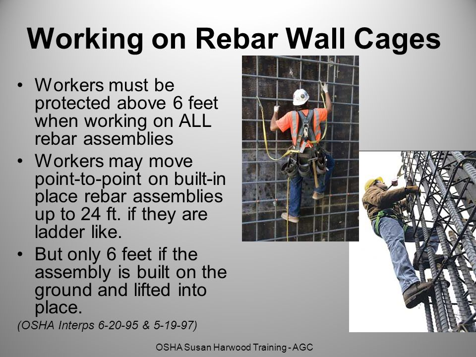 Working on Rebar Wall Cages
