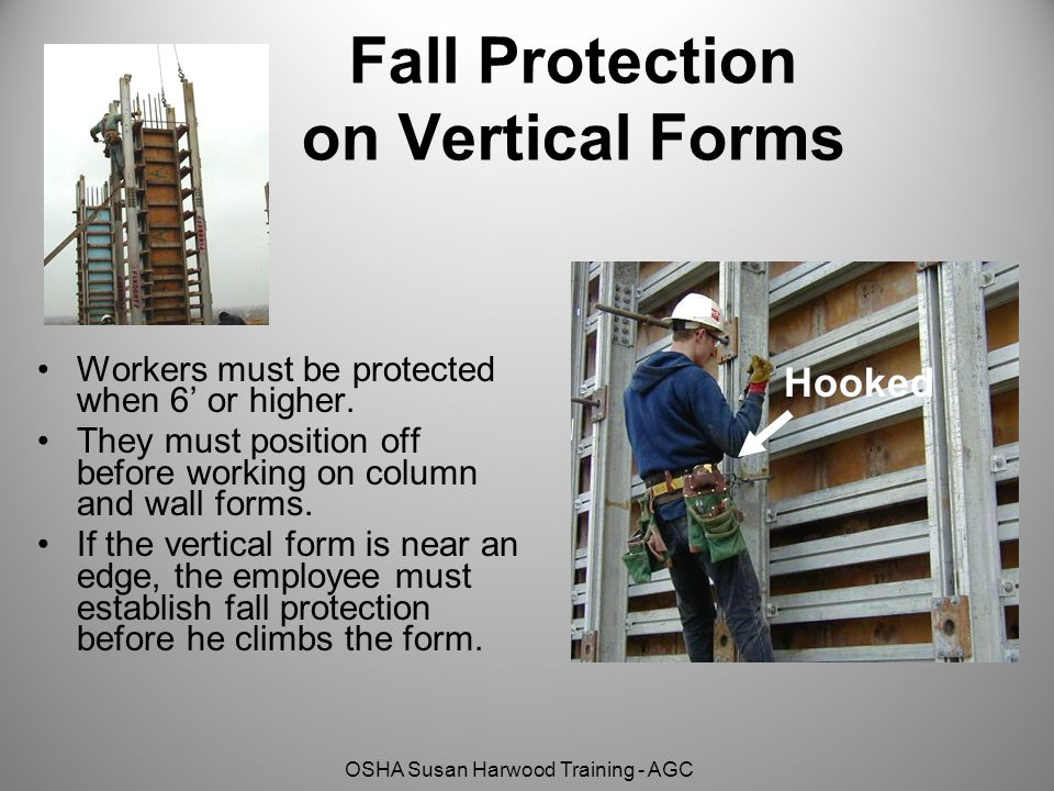 Fall Protection on Vertical Forms