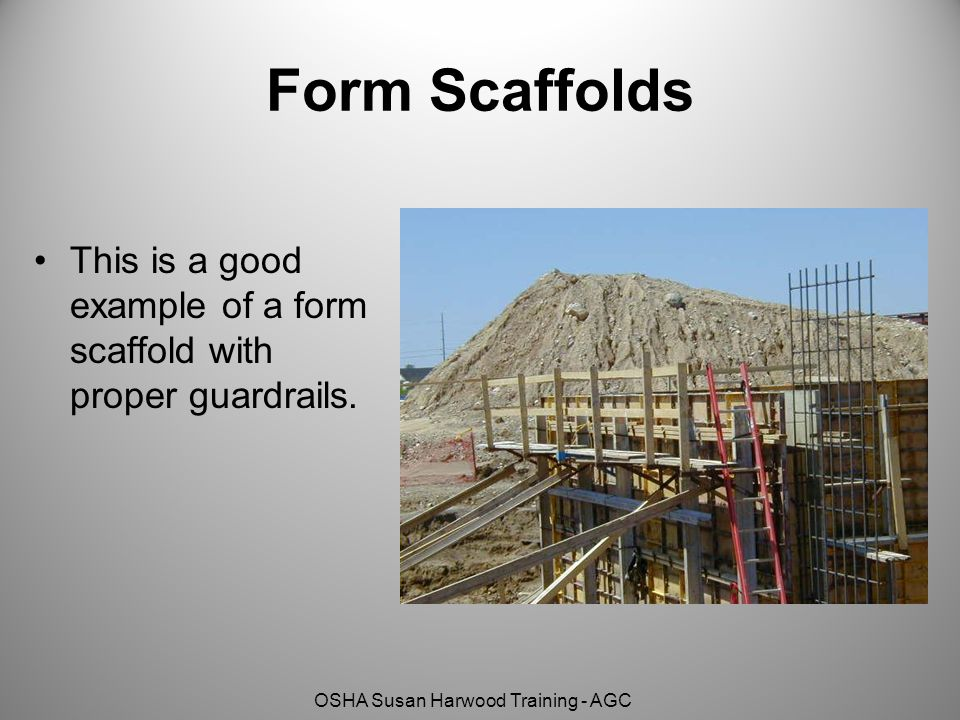Form Scaffolds This is a good example of a form scaffold with proper guardrails.