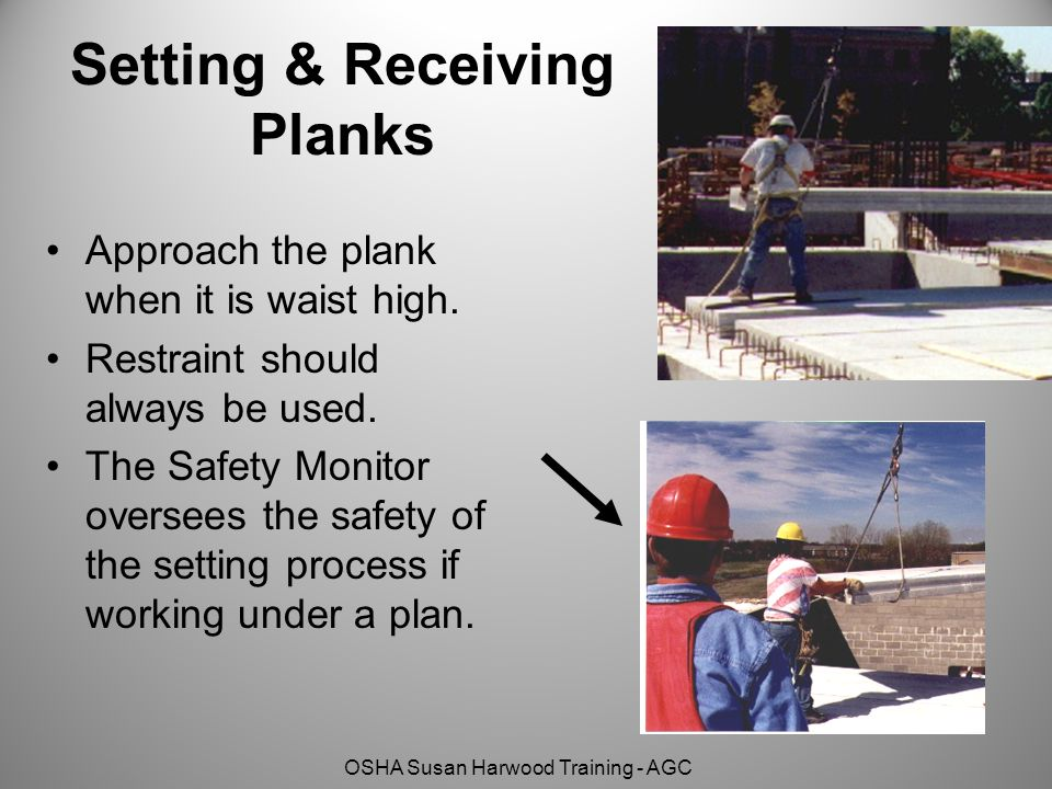 Setting & Receiving Planks