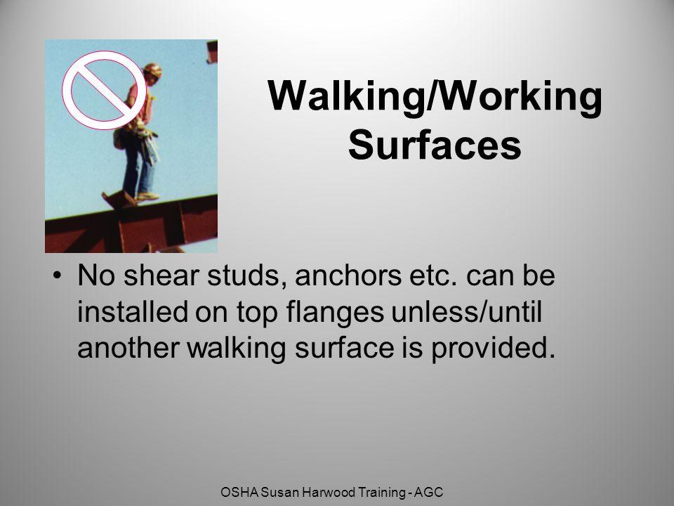 Walking/Working Surfaces