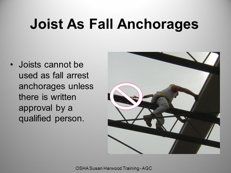 Joist As Fall Anchorages