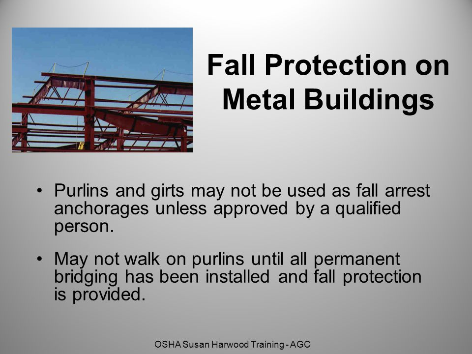 Fall Protection on Metal Buildings