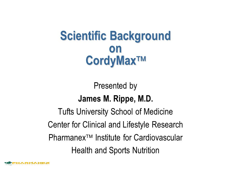 Scientific Background on CordyMax