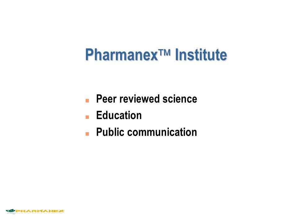 Pharmanex Institute Peer reviewed science Education