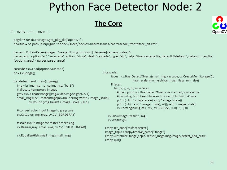 Python Face Detector Node: 2