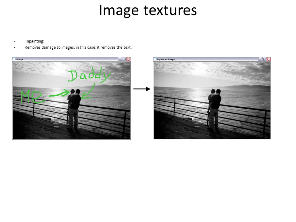 Image textures Inpainting: