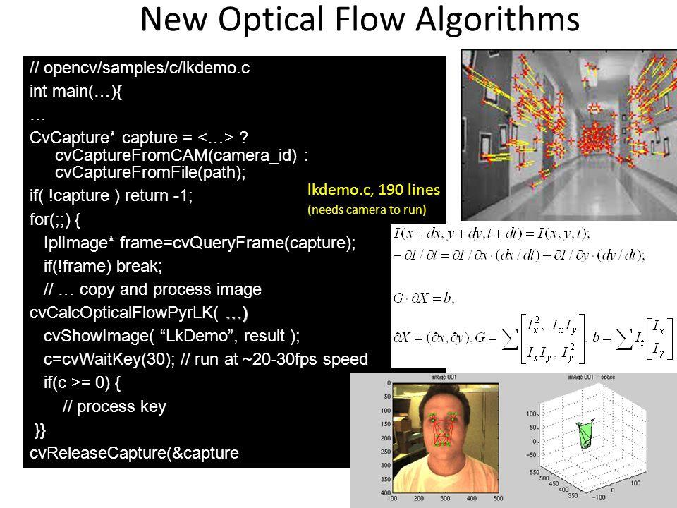 New Optical Flow Algorithms