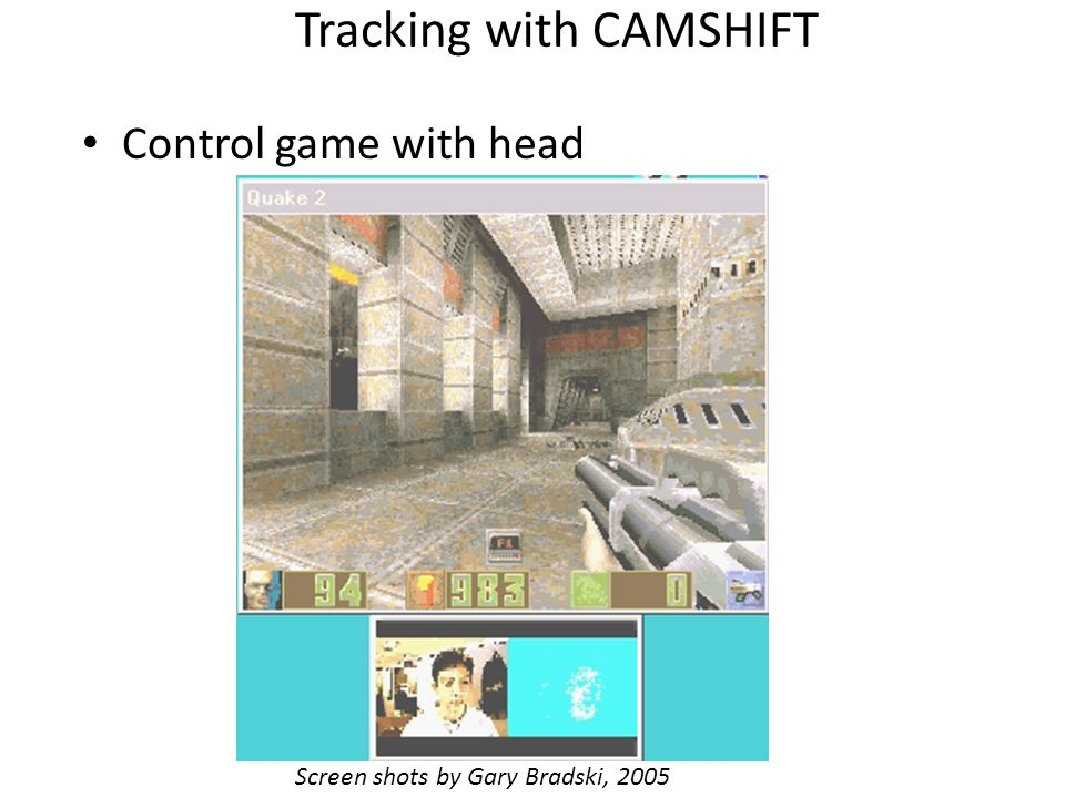Tracking with CAMSHIFT
