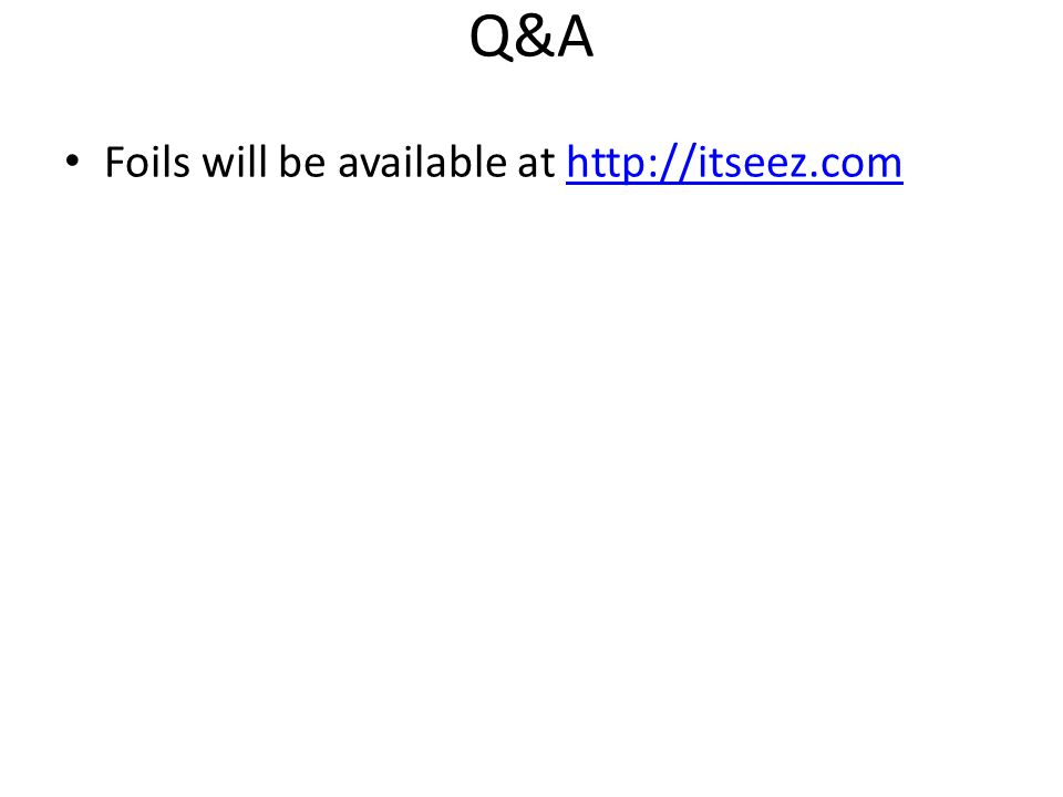 Q&A Foils will be available at http://itseez.com