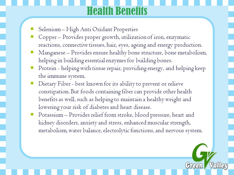 Health Benefits Selenium – High Anti Oxidant Properties