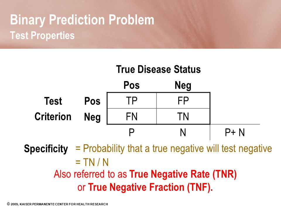 Binary Prediction Problem Test Properties