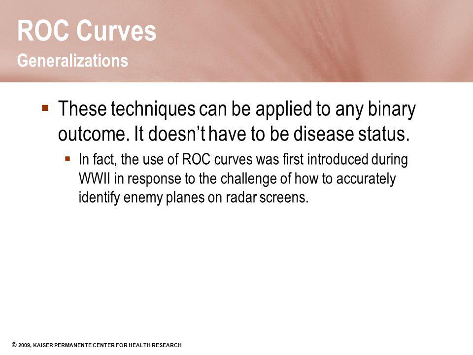 ROC Curves Generalizations