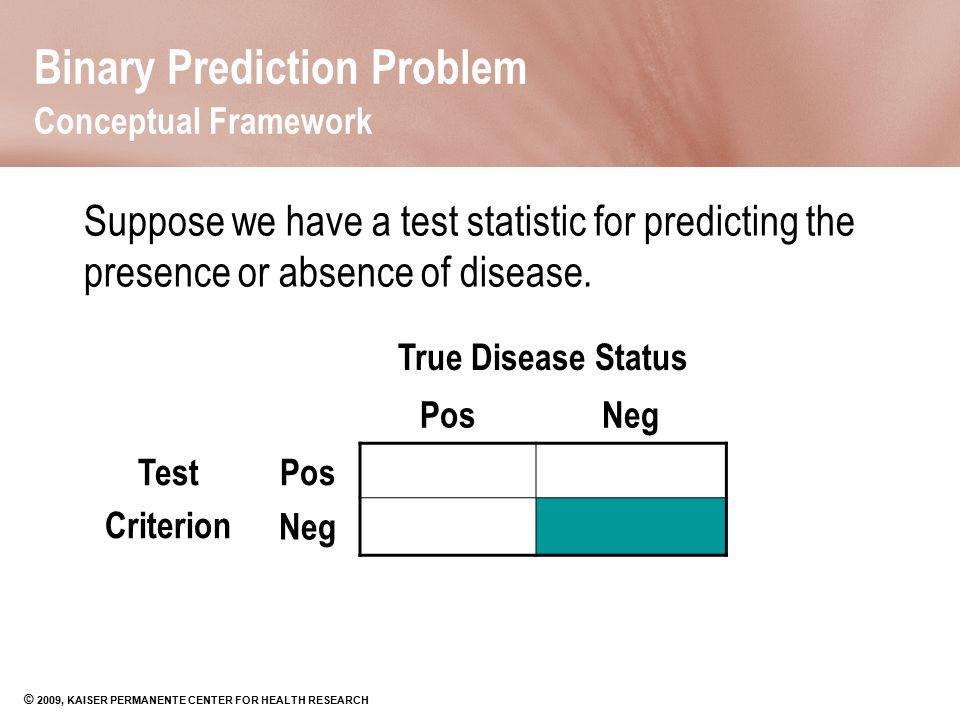Binary Prediction Problem Conceptual Framework