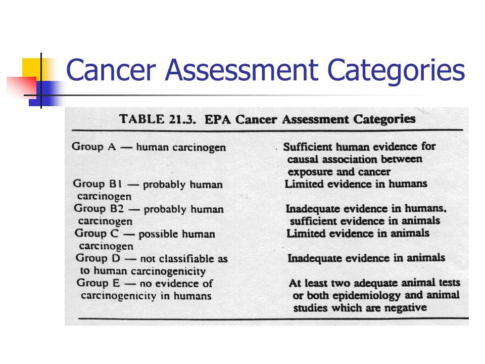 Cancer Assessment Categories