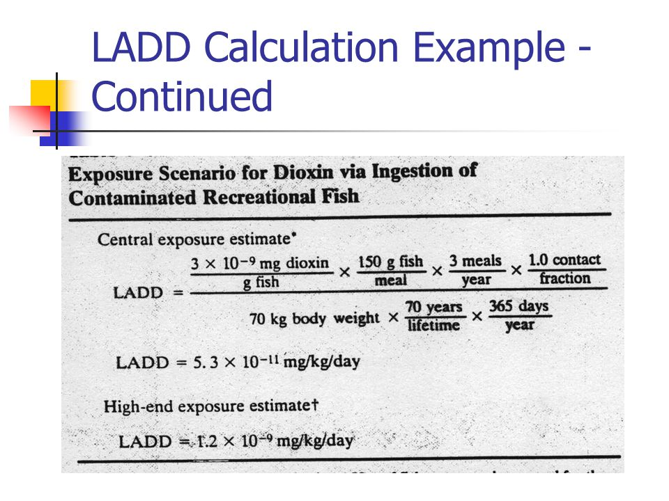 LADD Calculation Example - Continued