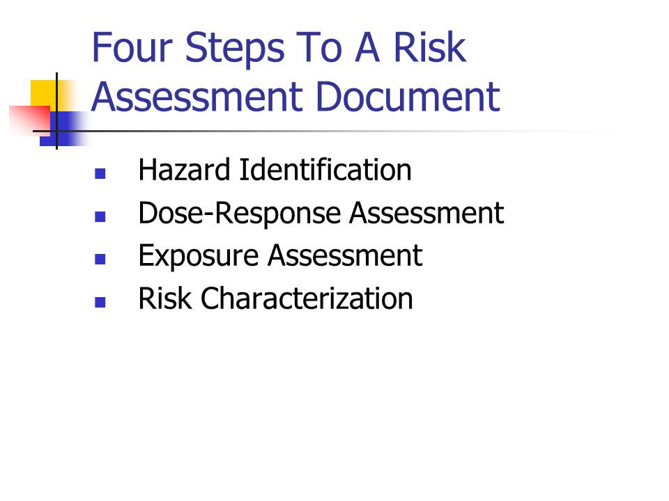 Four Steps To A Risk Assessment Document